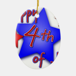 Fourth of July Celebration Ceramic Ornament