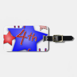 Fourth of July Celebration Luggage Tag