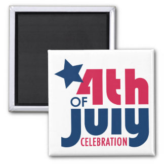 Fourth of July Celebration Magnet