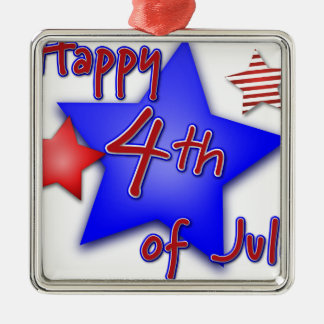 Fourth of July Celebration Metal Ornament