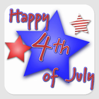 Fourth of July Celebration Square Sticker