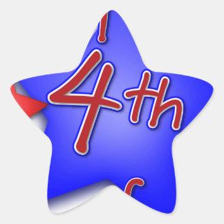 Fourth of July Celebration Star Sticker