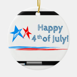 Fourth-of-July Ceramic Ornament