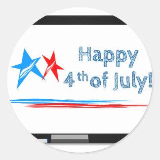Fourth-of-July Classic Round Sticker