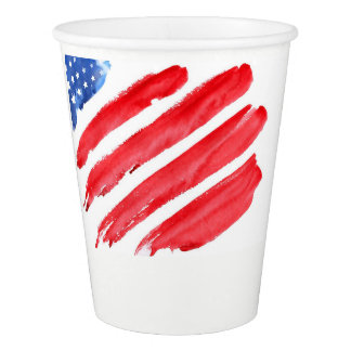 fourth of July colorful barbecue Paper Cup