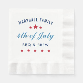 Fourth of July | Custom Disposable Serviettes