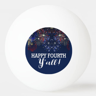 Fourth of July Fireworks Summer Party Red White Ping Pong Ball