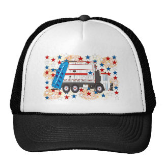 Fourth of July Garbage Truck Cap
