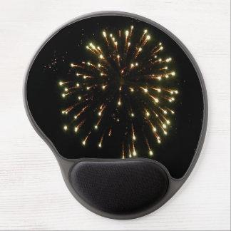 Fourth of July Gold Fireworks Burst Gel Mouse Pad