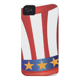Fourth of July Hat Gold Stars Illustration Case-Mate iPhone 4 Cases