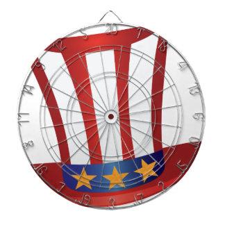 Fourth of July Hat Gold Stars Illustration Dartboard