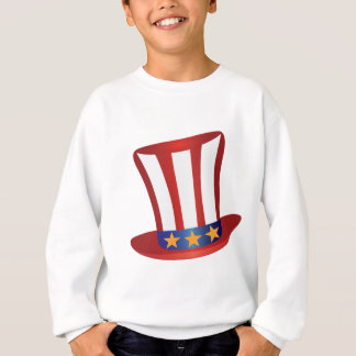 Fourth of July Hat Gold Stars Illustration Sweatshirt