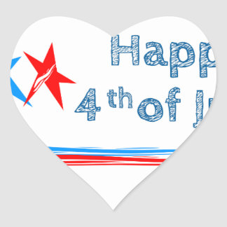 Fourth-of-July Heart Sticker