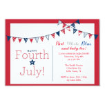 Fourth of July Independence Day Baby Shower 9 Cm X 13 Cm Invitation Card