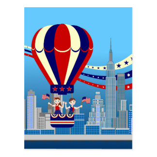 Fourth of July kids party Postcard