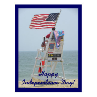 Fourth of July Lifeguard Postcard