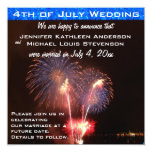 Fourth of July Marriage Announcement 13 Cm X 13 Cm Square Invitation Card