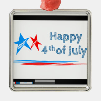 Fourth-of-July Metal Ornament