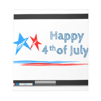 Fourth-of-July Notepad
