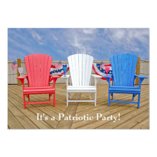 Fourth of July party 13 Cm X 18 Cm Invitation Card