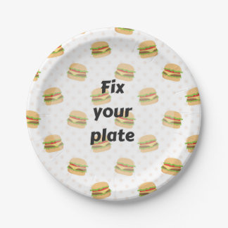 Fourth of July Party Paper Plate 7 Inch Paper Plate