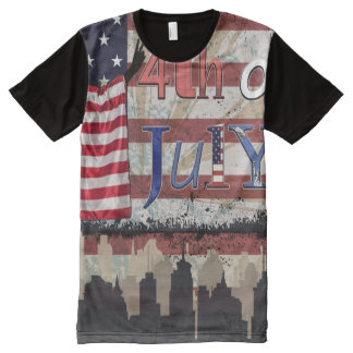 Fourth of July (Patriotic) All-Over Print T-Shirt