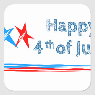 Fourth-of-July Square Sticker