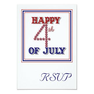 Fourth Of July Stars Patriotic RSVP Card 9 Cm X 13 Cm Invitation Card