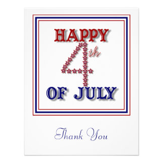 Fourth of July Stars Patriotic Thank You Card