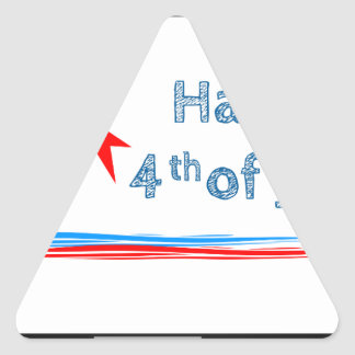 Fourth-of-July Triangle Sticker