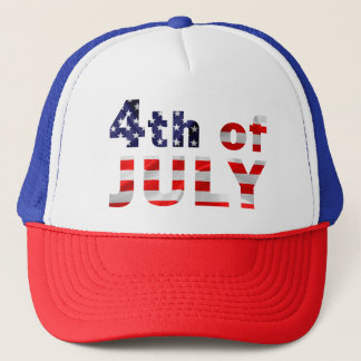 Fourth Of July Trucker Hat