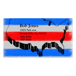 Fourth Of July US Map Business Card