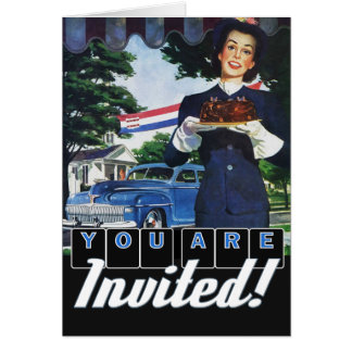 Fourth of July Vintage Classic Car Party Invite