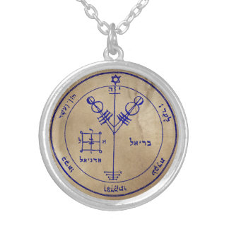 Fourth Pentacle of Jupiter Silver Plated Necklace