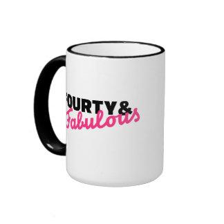 Fourty & fabulous birthday mugs