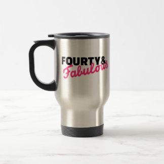 Fourty & fabulous birthday coffee mugs