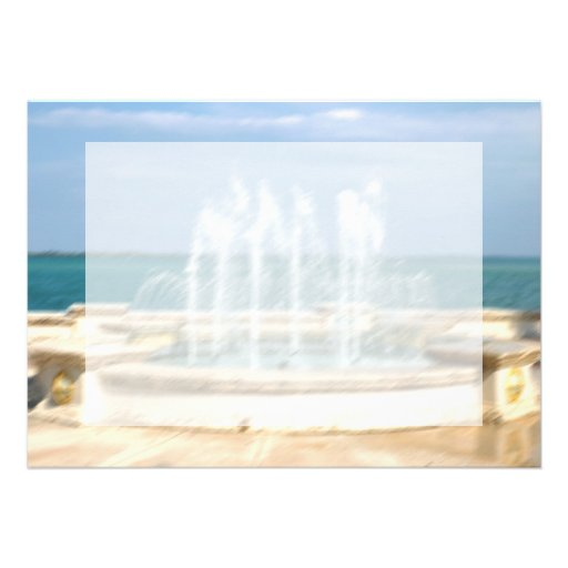 Foutain river sky water coral blur lighten personalized announcement
