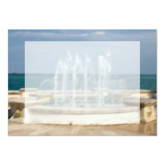 Foutain river sky water coral sketch blur invitations