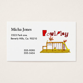 Fowl Play Business Card