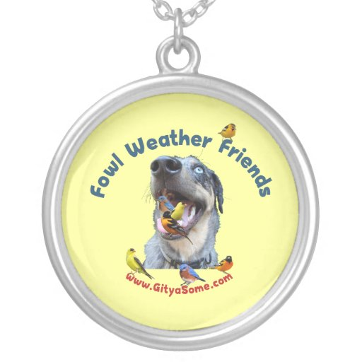 Fowl Weather Friends Dog Necklaces