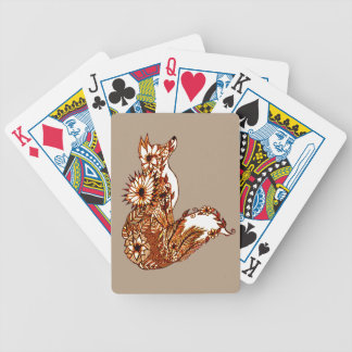 Fox 1 bicycle playing cards