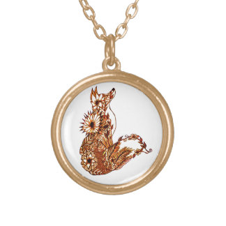 Fox 1 gold plated necklace