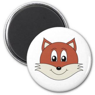 fox 6 cm round magnet