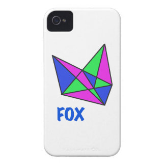 FOX, abstract, stained glass, gifts, t shirts iPhone 4 Covers