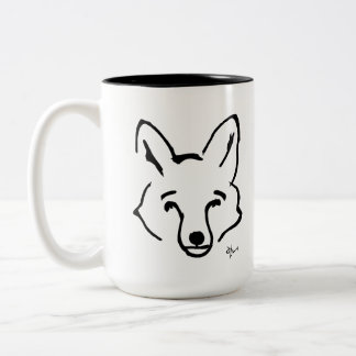 Fox - Adolf Lorenzo Two-Tone Coffee Mug