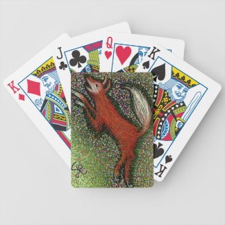 Fox Among the Flowers Bicycle Playing Cards