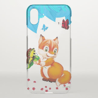 fox and butterfly iPhone x case