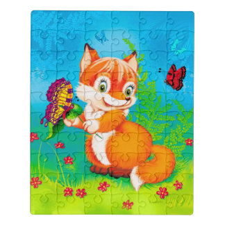 fox and butterfly jigsaw puzzle