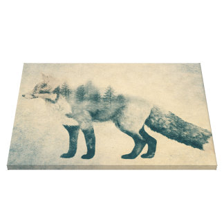 Fox and Forest - Shrinking Forest Poster Canvas Print