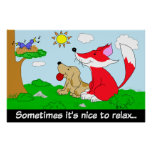 Fox and Hound Relax Poster